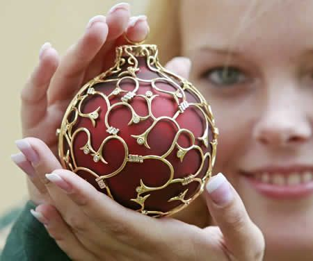 This one is arguably the world's most expensive Christmas ornament ...