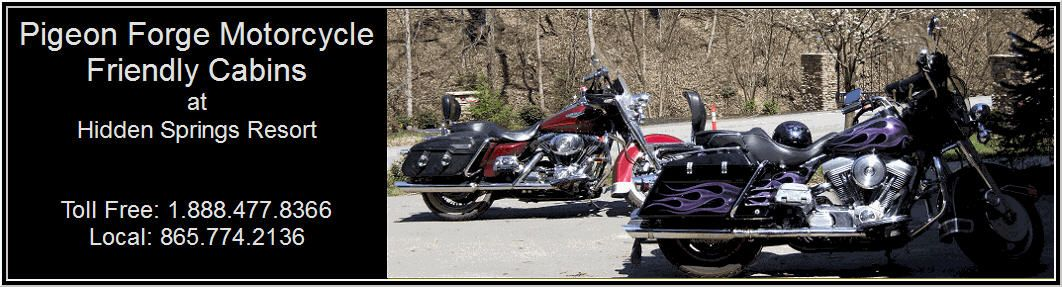 Motorcycle Friendly Cabins at Hidden Springs Resort in the