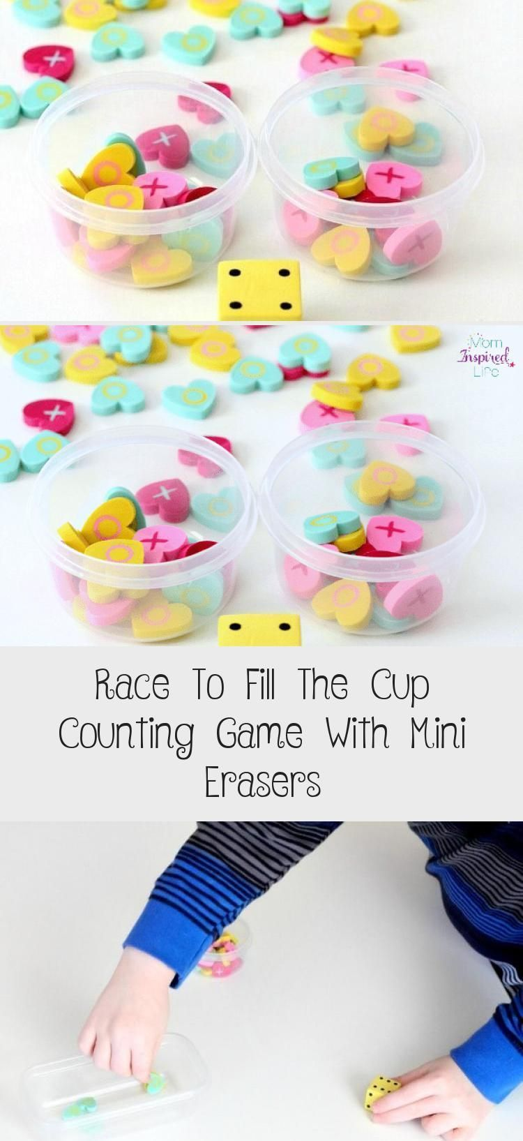 Race To Fill The Cup Counting Game With Mini Erasers - Valentines Day Gifts Idea..., #counting #Cup #Day #Erasers #fill #Game #Gifts #idea #Mini #Race #Valentines