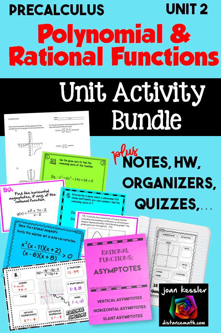 Unit 2 Polynomial and Rational Functions PreCalculus