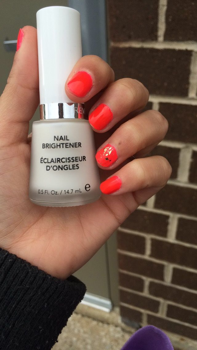 Revlon Nail Brightener Use It As A Base Coat For Your Neon Polish To Make Pop Or Wear Alone Light White Natural I Love