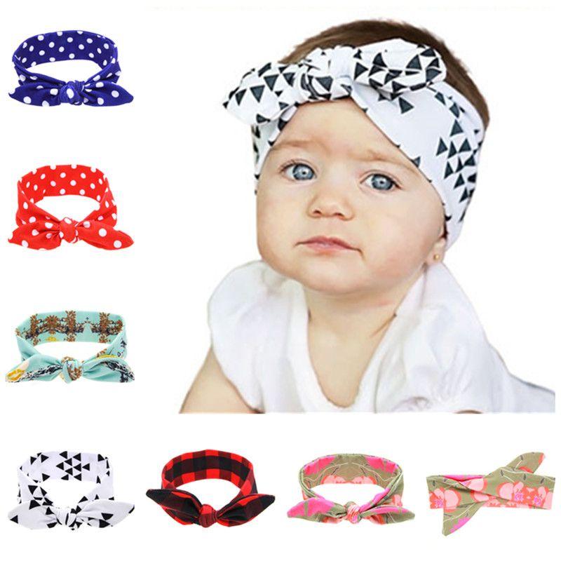 10pcs lot Baby Tie Knot Headband Knitted Cotton Children Girls Hair Band  Toddler Turban Headband bd0b30bc9b2