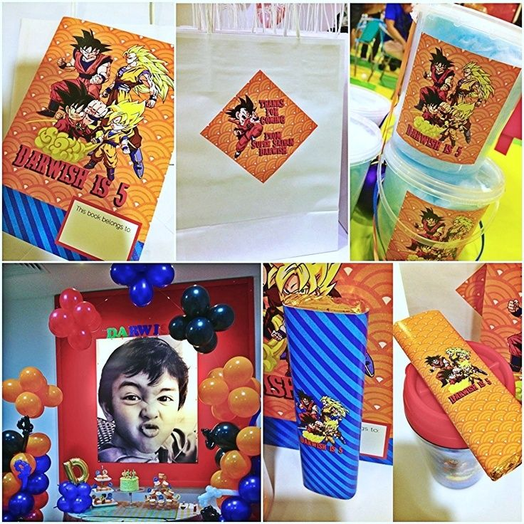 Dragon ball party supplies buscar con google for Decoration dragon ball