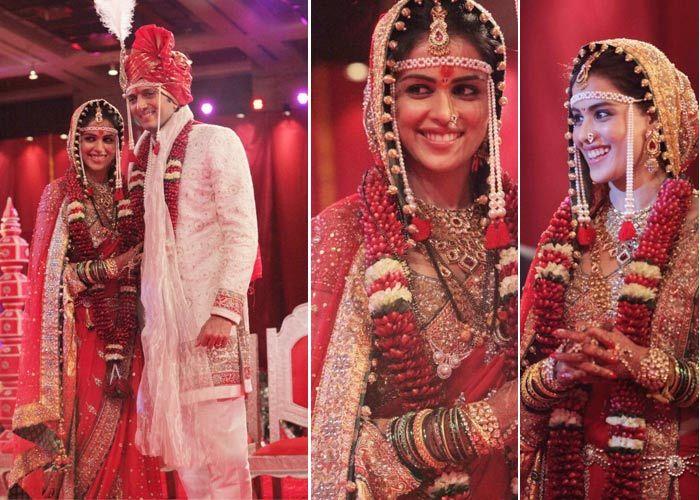Genelia Deshmukh Top 10 Famous Indian Celebrity Wedding Dresses Trends 2