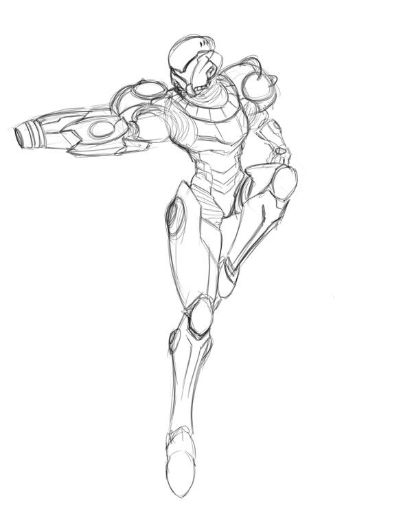 Varia Suit Sketch Samus Aran Sketches Metroid