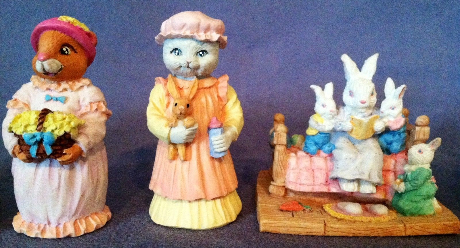 Vintage Easter Figurines Vintage Lot Of 7 Decorations Resin Ebay