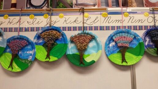 Tree weaving made by 3rd graders.