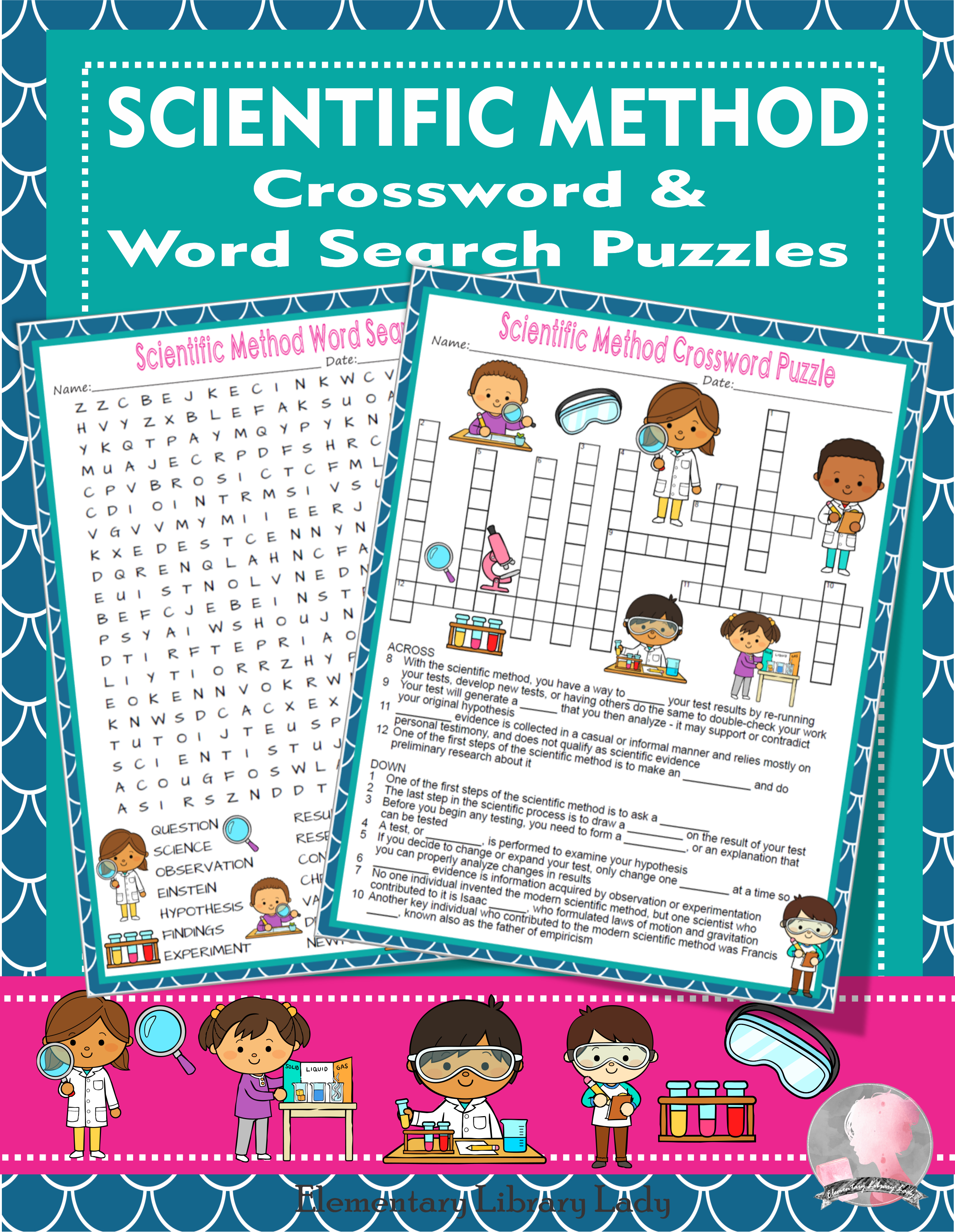 Scientific Method Crossword Puzzle And Word Search Find