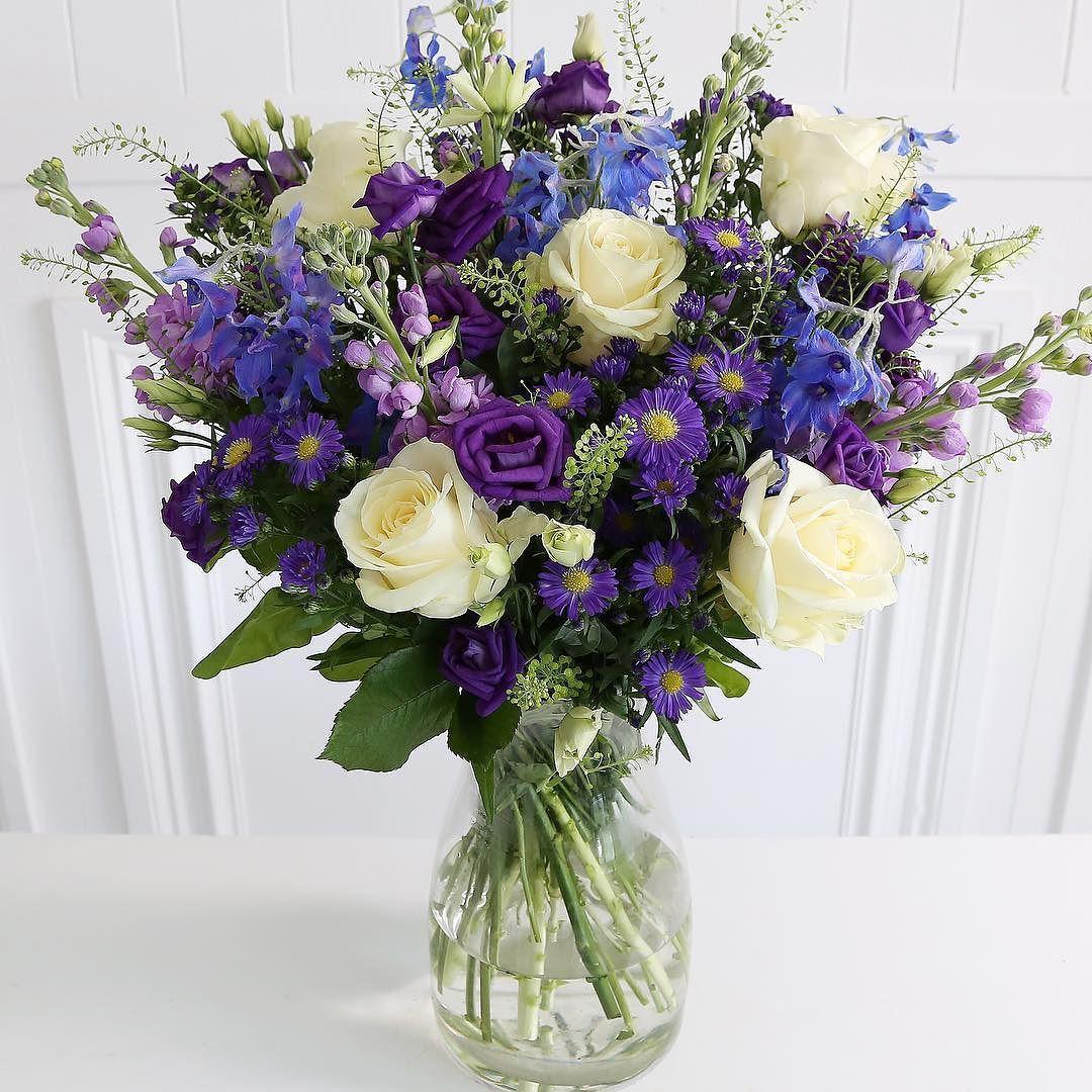 Flower Delivery Arenaflowers Com London Uk Purple Wedding Flowers Blue Delphinium Bouquet Blue Bell Flowers
