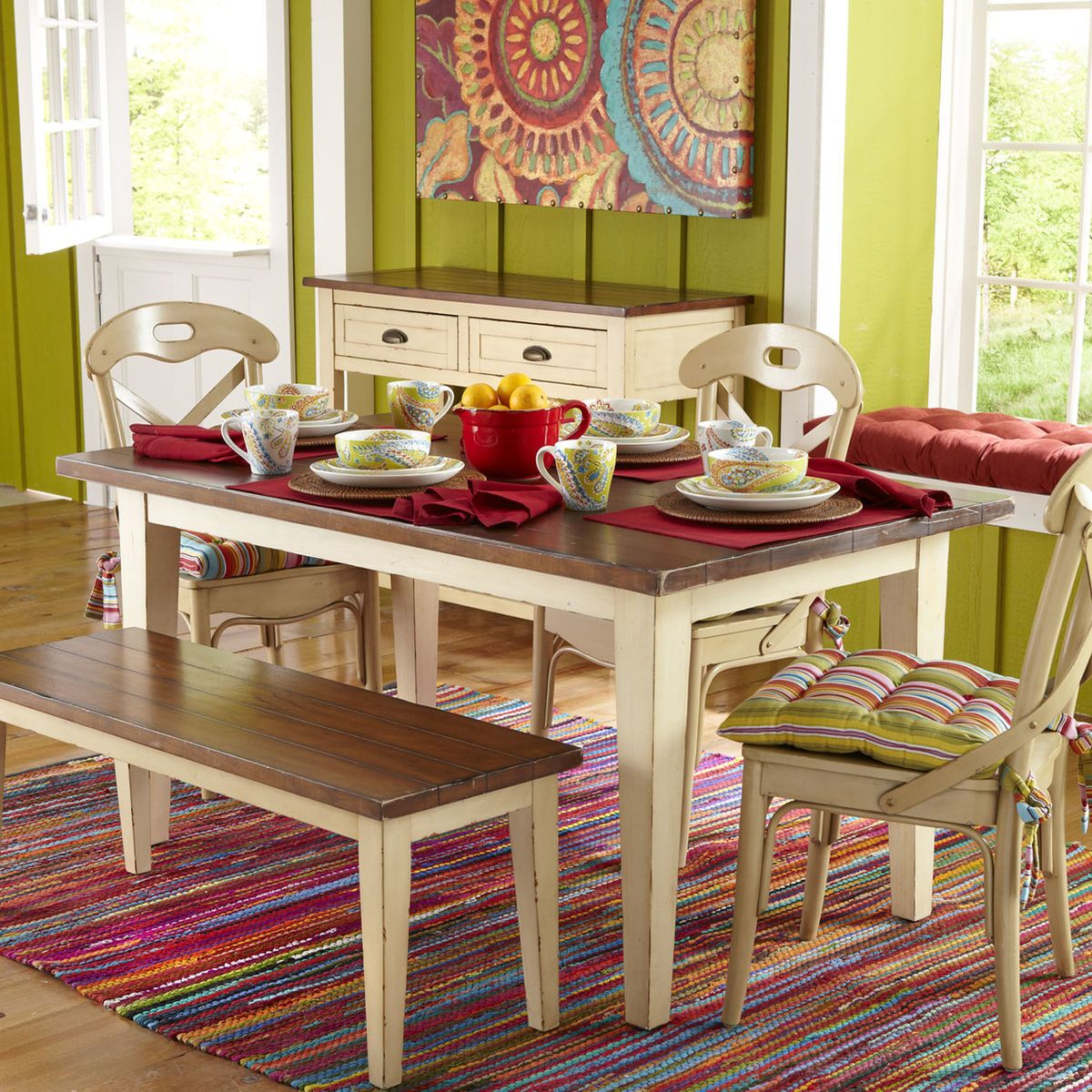 Carmichael Antique Ivory Dining Table  Ivory Breakfast Nooks And Entrancing Ivory Dining Room Set Design Ideas