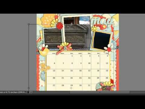 Making a Calendar with Digital Scrapbooking Quick Page Calendars