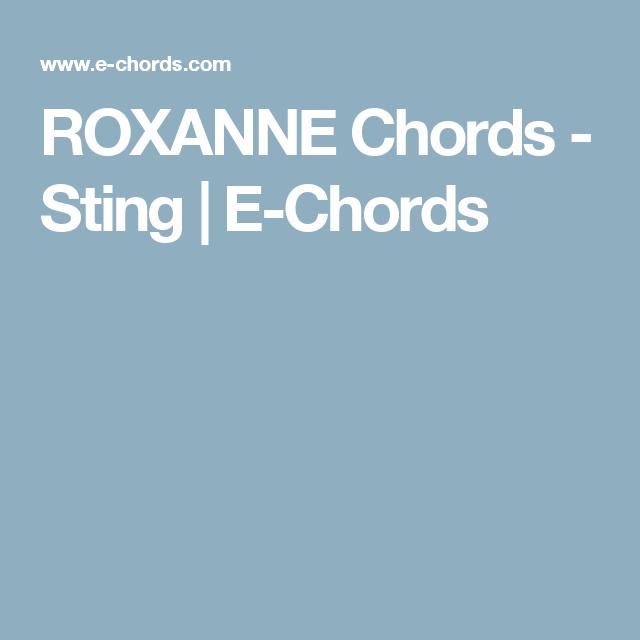 ROXANNE Chords - Sting | E-Chords