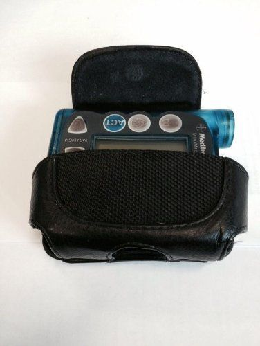 Leather Diabetic Insulin Pump Case Fits Animas Vibe / Pin