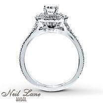 1 1/6 ct tw Diamond Bridal Set Round-Cut 14K White Gold