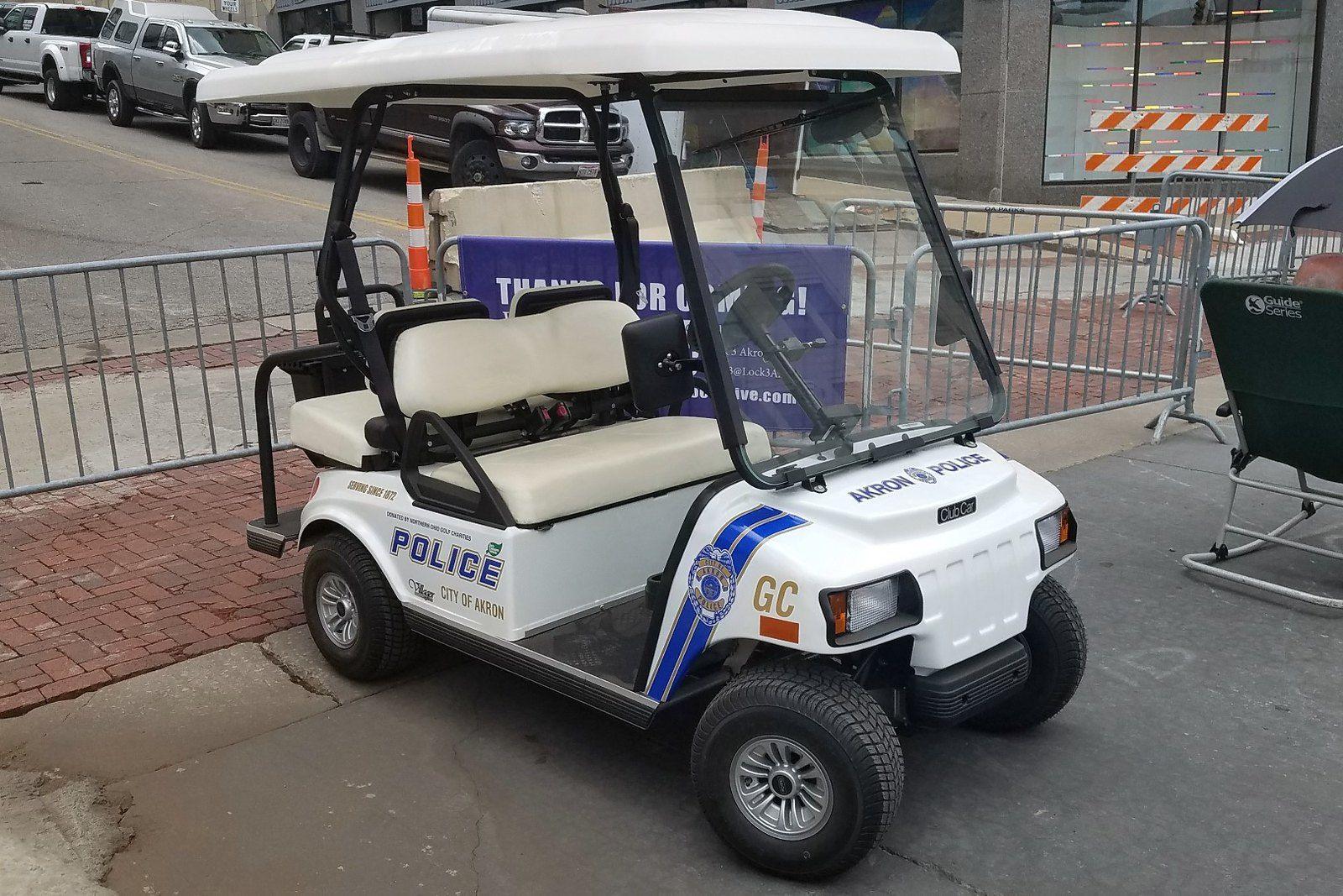 Akron police club car golf cart club car golf cart golf