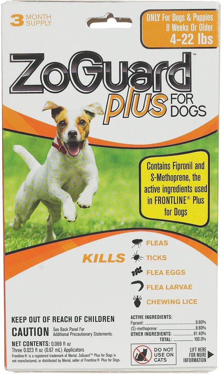 ZoGuard Plus for Dogs 3 pk (522 lbs) Cat fleas, Fleas