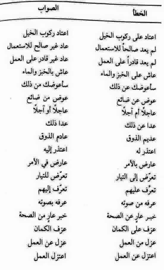 الخطأ والصواب Beautiful Arabic Words Learn Arabic Language Arabic Language