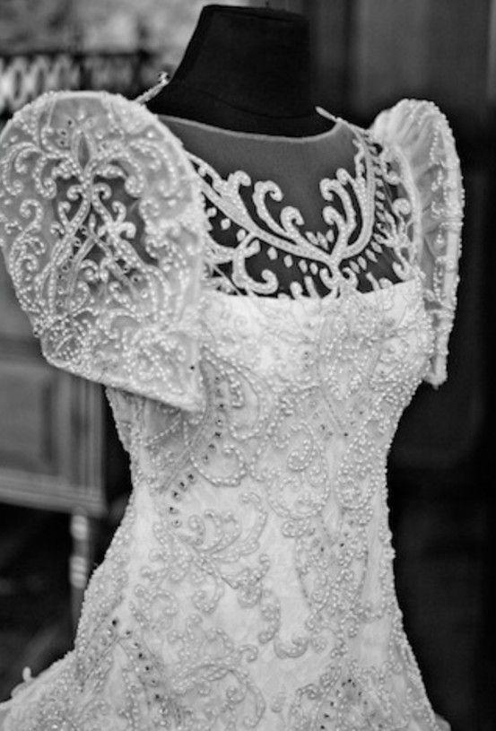Filipiniana Lacy Butterfly Sleeves Wedding Dress Filipiniana