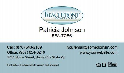 Beachfront Realty Business Cards Bri Bc 074 Without Photo