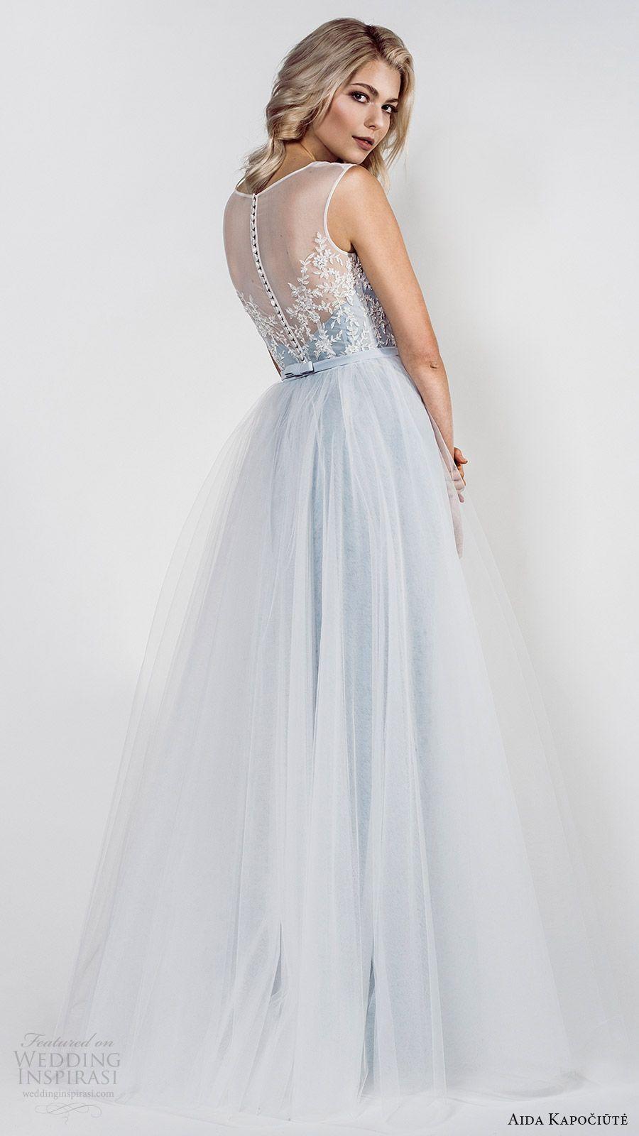 Aida kapociute wedding dresses blue colors illusions and