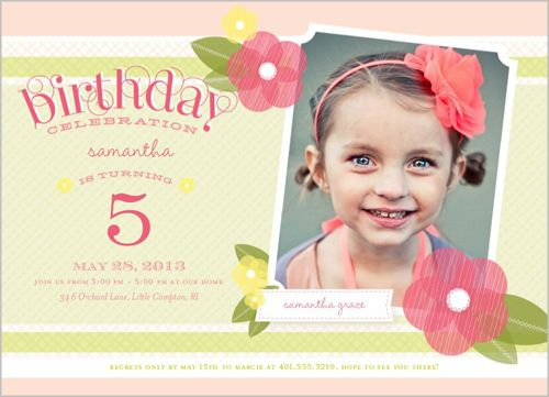 Awesome 5 Years Old Birthday Invitations Wording