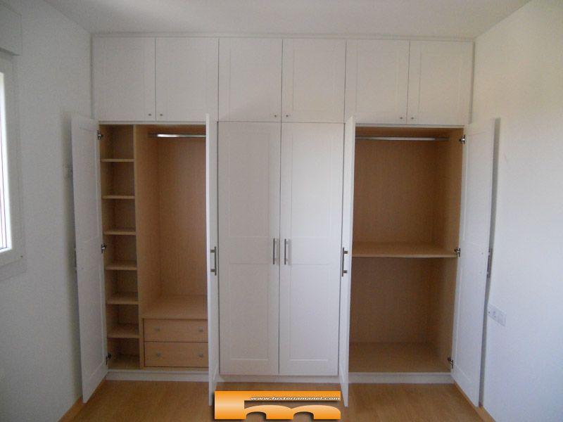 Armario blanco con altillo muebles armario blanco - Armario dormitorio blanco ...
