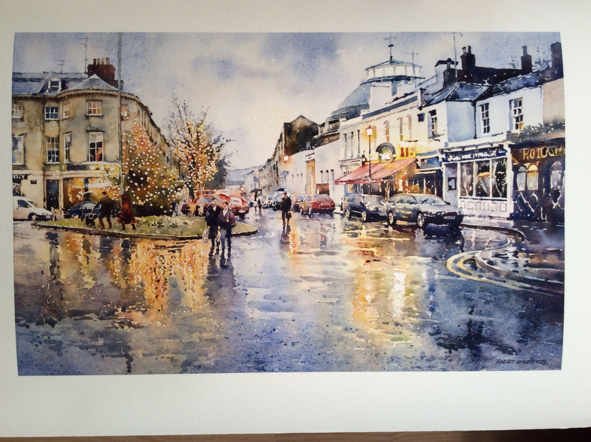Watercolor artist magazine customer service - Looking Over To The Montpellier Wine Bar Watercolour By Robert Goldsmith