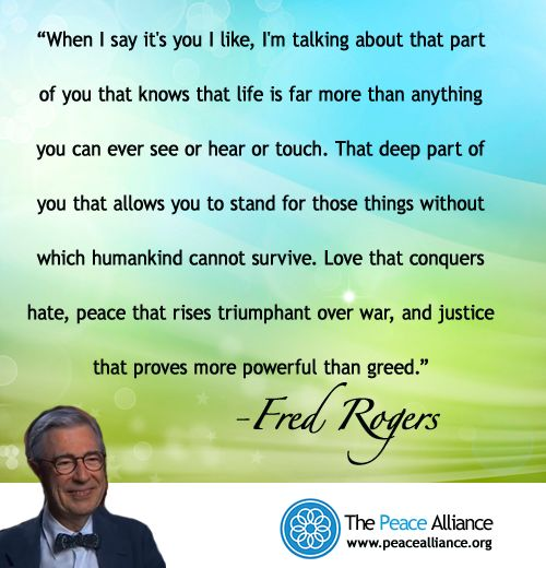 Fall Enewsletter The Peace Alliance Mr Rogers Quote Words Of Encouragement Words