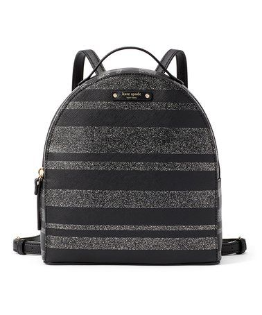 b046e96542af6b Love this Black Glitter Stripe Haven Lane Sammi Backpack on #zulily! # zulilyfinds