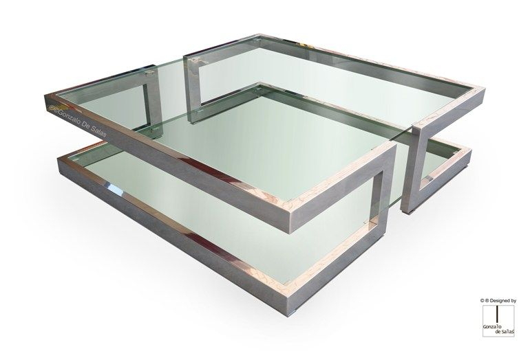 Square Glass Coffee Table Lisa Coffee Table By Gonzalo De Salas Square Glass Coffee Table Glass Coffee Table Steel Coffee Table