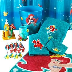 Disney Little Mermaid Bath Collection From Kmart Com Mermaid Bathroom Decor Mermaid Bathroom Little Mermaid Bathroom
