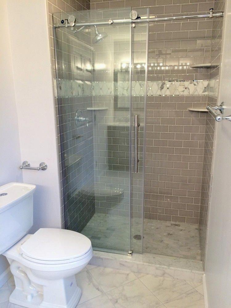 45 Best Creative Shower Doors Design Ideas For Bathroom Shower Doors Bathroom Design Shower Sliding Glass Door