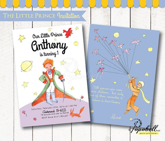 The Little Prince Invitation For The Little Prince Birthday Le Petit Prince Invitation Printable F Little Prince Party The Little Prince Prince Birthday Party