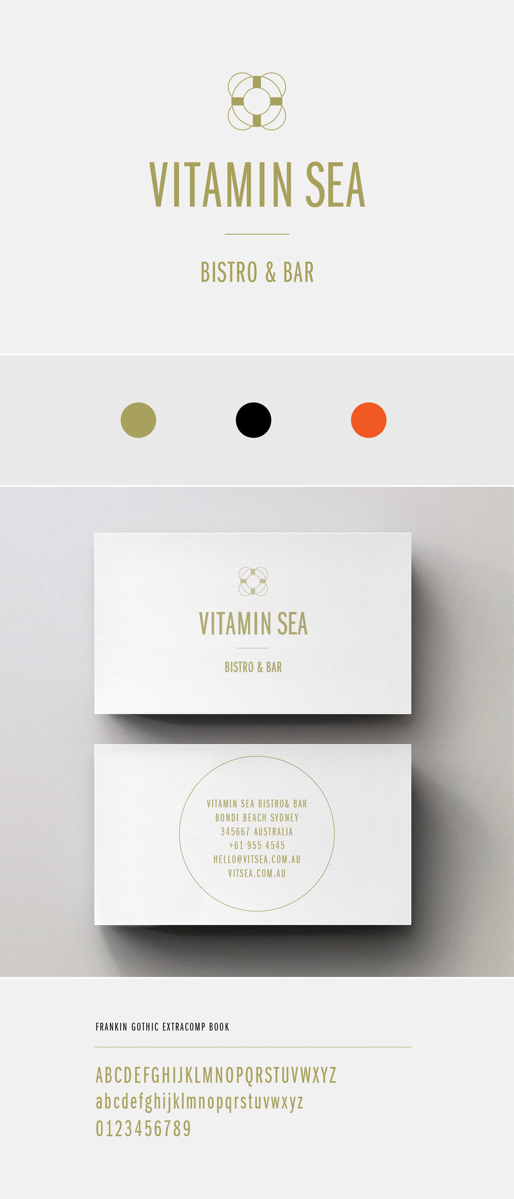 Logo design for vitamin sea bistro bar card pinterest logo design business cards reheart Gallery