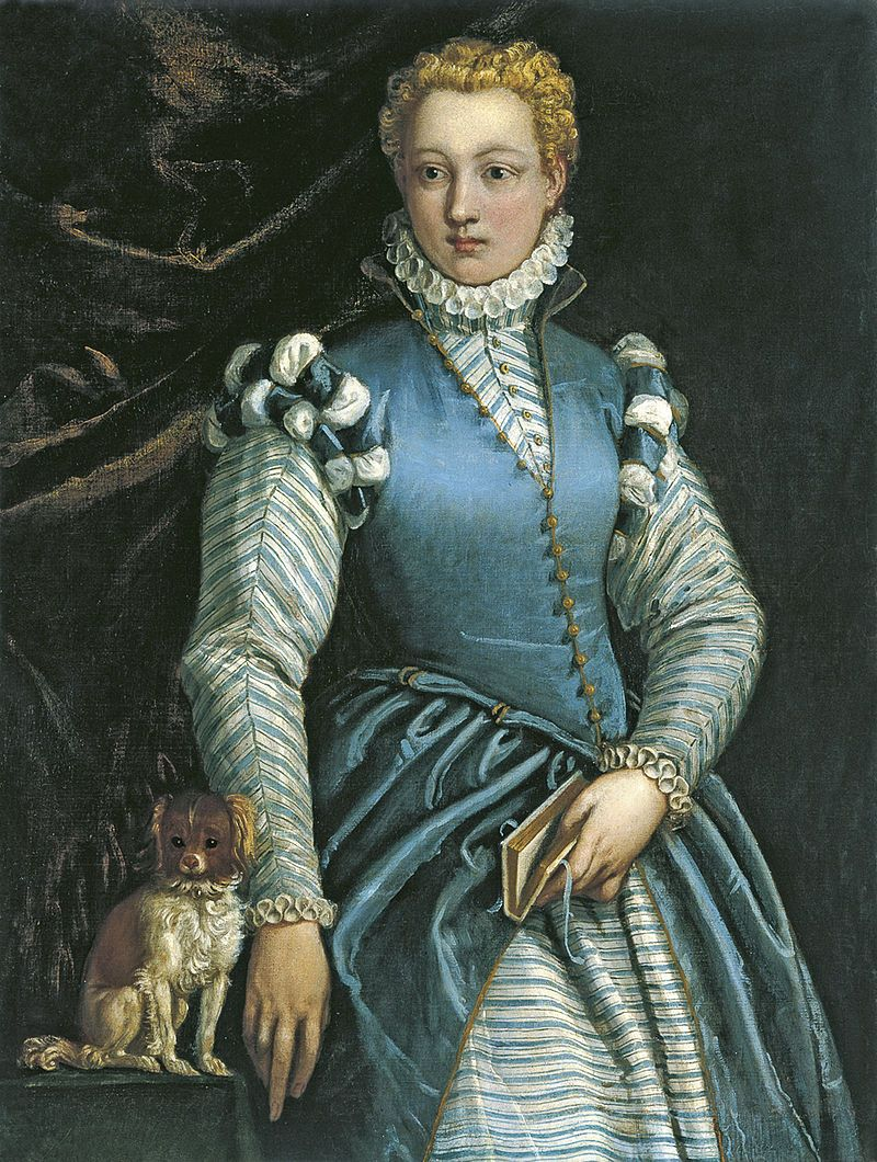 1585 88 Portrait of a Woman with a Dog - Veronese - Museo Thyssen - Isabella Andreini - Wikipedia
