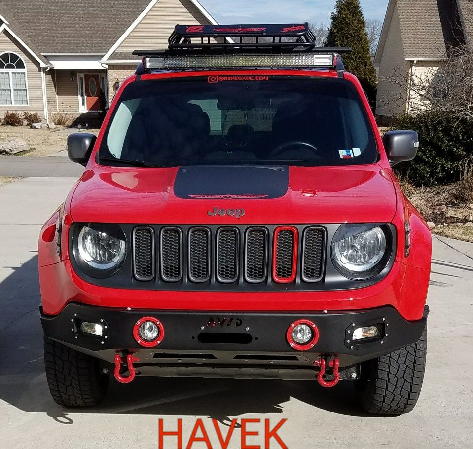 Havek With The Avid Contour Bumper Jeep Renegade Trailhawk Jeep