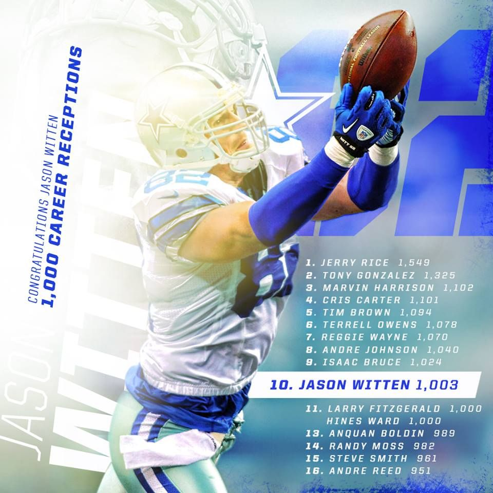 Congratulations Jason Witten Dallas Cowboys Dallas Cowboys Fans Dallas Cowboys Football