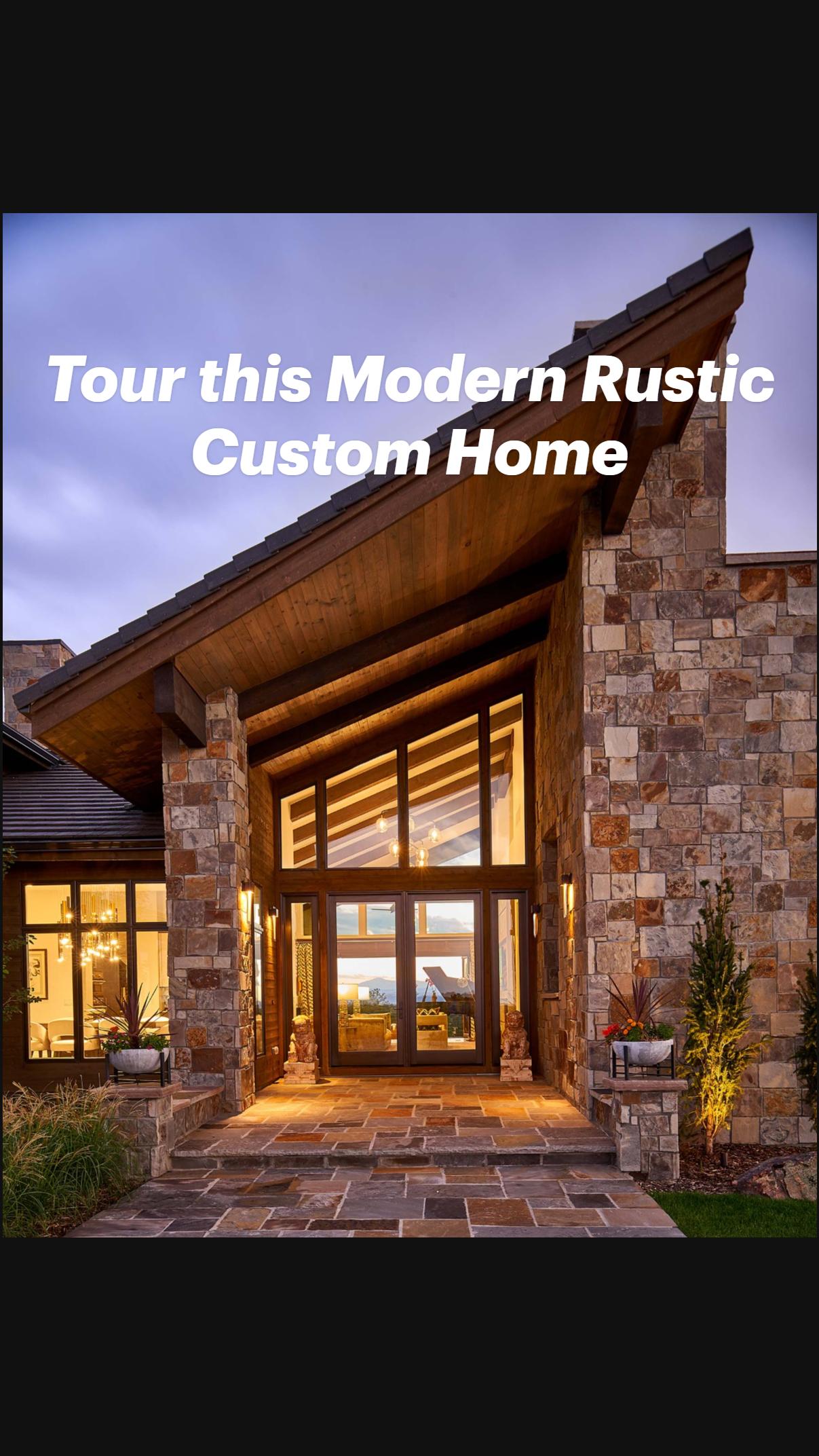 Tour this Modern Rustic Custom Home in Colorado Golf Club