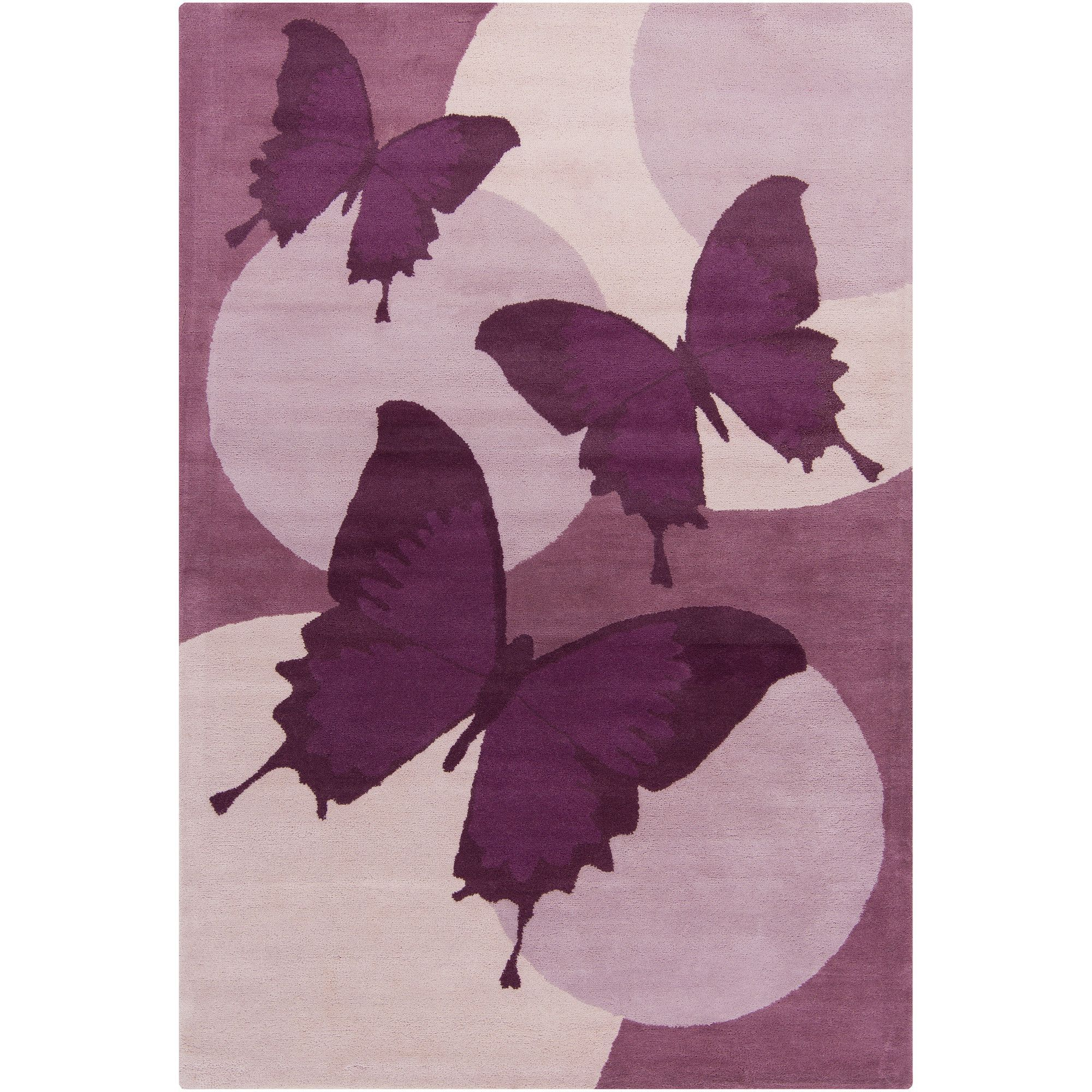Cinzia Purple Erfly Area Rug