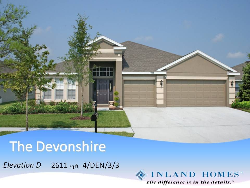Inland Homes Devonshire Model At Lake Jovita Dream Home 2017 Home House Design