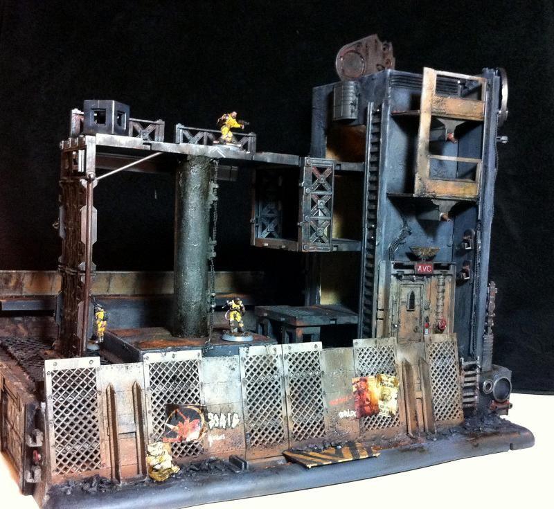 Buildings, City, Derelict, Hab, Necromunda, Rust, Scratch