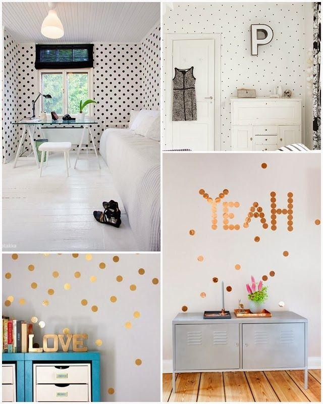 Decora tu pared con topitos hogar pinterest pared - Decorar tabla madera ...