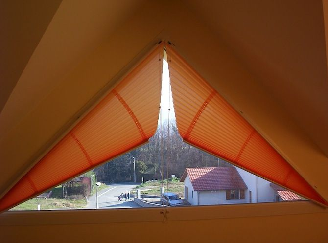 Image Result For Curtains Or Blinds On Triangle Windows плісе