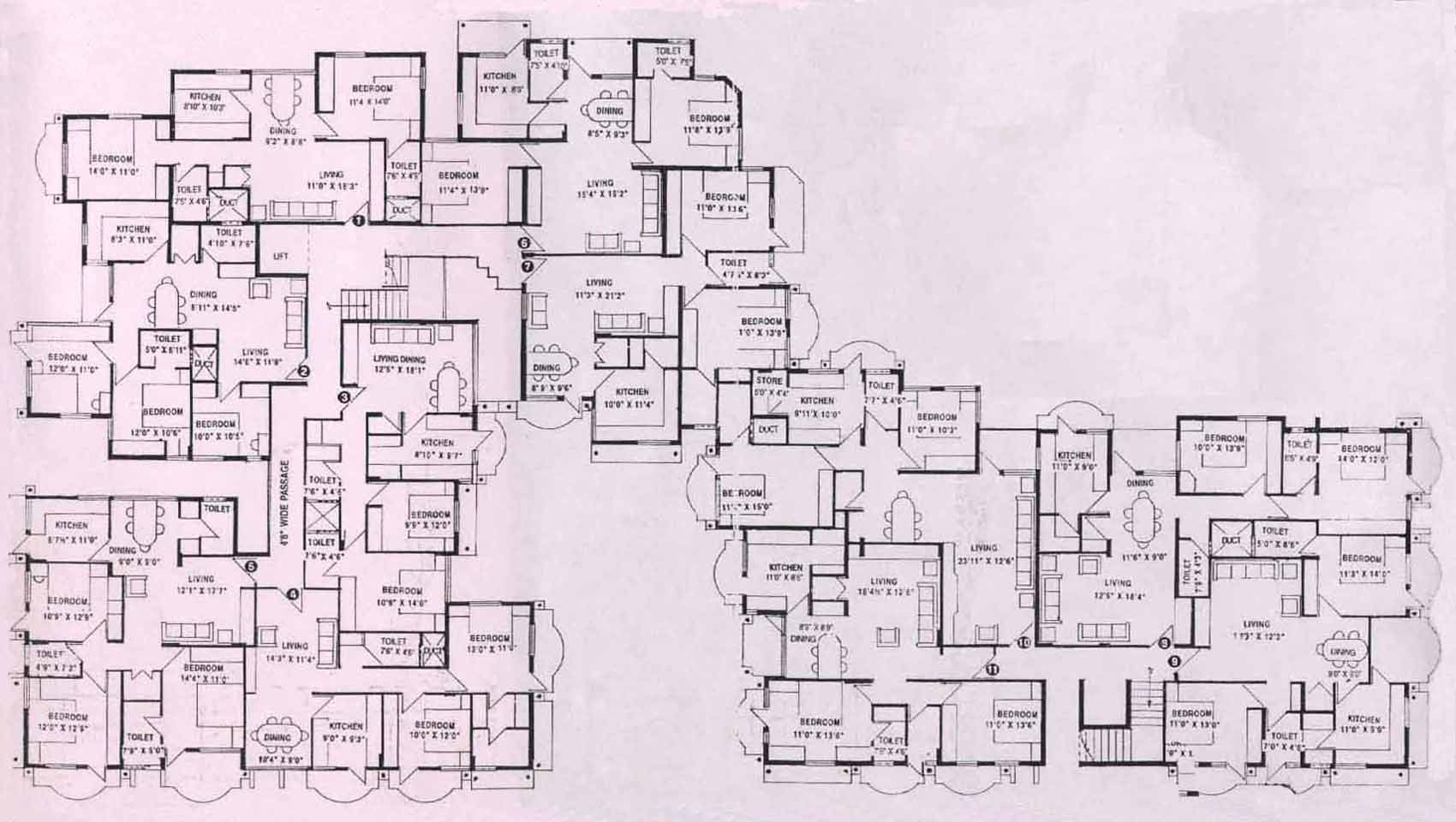 Winchester mystery house floor plan winchester mystery for Blueprint home plans