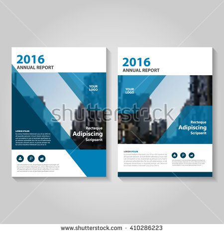 Blue Vector annual report Leaflet Brochure Flyer template design - annual report cover page template