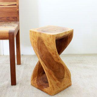 Overstock Com Online Shopping Bedding Furniture Electronics Jewelry Clothing More Twisted Oak Monkey Pod Wood Stool