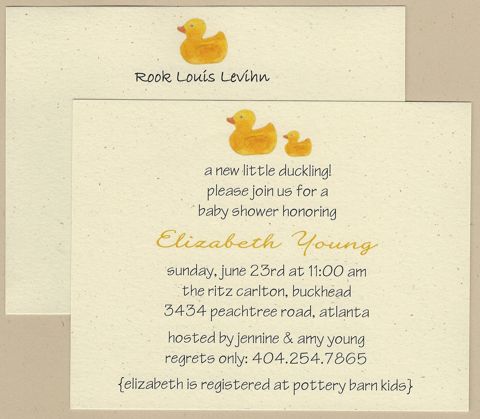 $15.00/12 Duck Stationery Cards. $18/12 Invitations. Duck Baby ...