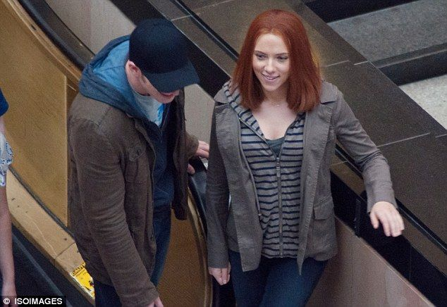 What first attracted you to the superhero Captain America? Scarlett Johansson and Chris Evans FINALLY share a kiss as they film sequel   Black widow marvel, Black widow winter soldier, Black widow