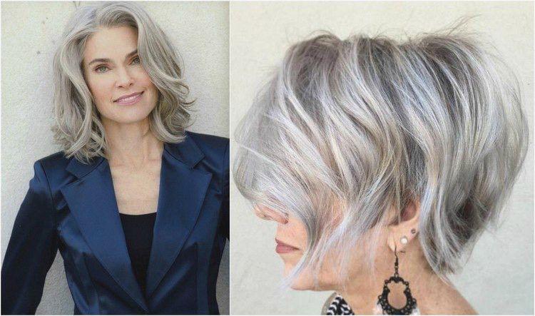 Frisuren Graue Haare Mittellang Frisuren Kurzhaarfrisuren