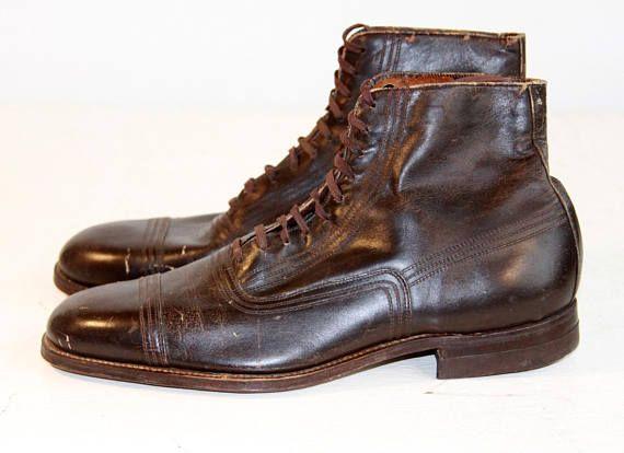 8384d9437066d 1920s Mens Boots | Mens Antique Boots | Vintage Cap Toe Boots | Mens ...